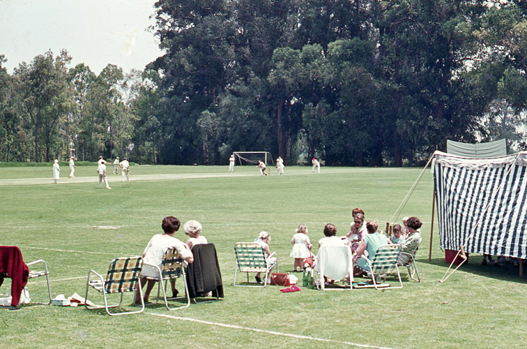 Rather Idyllic I Would Say As Cricket Is Supposed To Be My Mother And Younger Sister Are In The Photo
